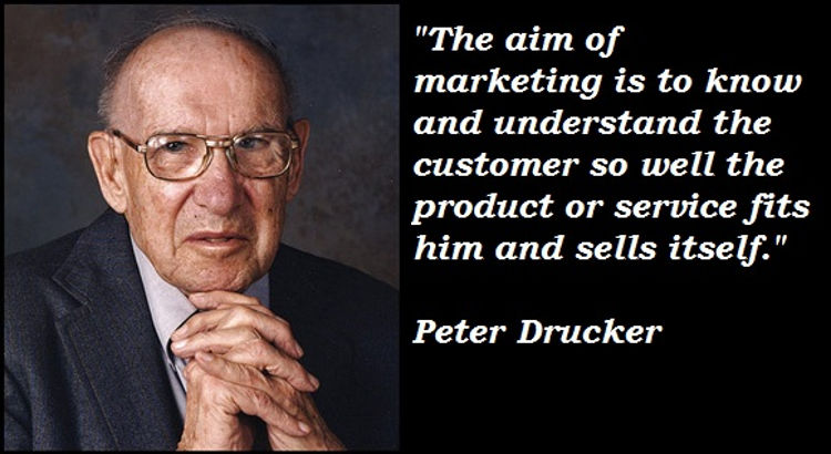 Peter Drucker - prominent management Guru and instigator of Outsourcing